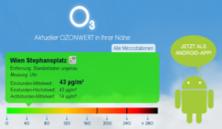 ozon-info.at – Ozon-Warnung am Smartphone